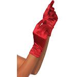 Gloves Red Wrist Length