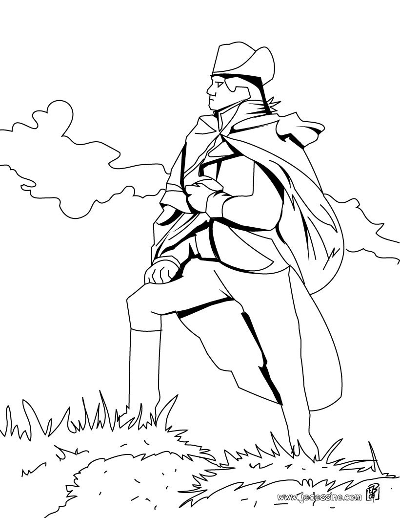 Coloriage du General Bonaparte
