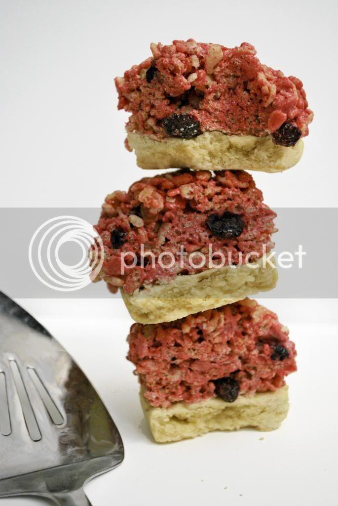 Cherry Pie Rice Krispy Treats