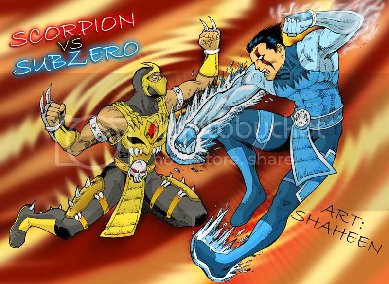 mortal kombat scorpion wallpaper. mortal kombat 9 scorpion vs