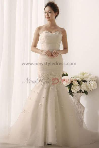 Sheath Mermaid Hot Sale Appliques Elegant Cheap Wedding