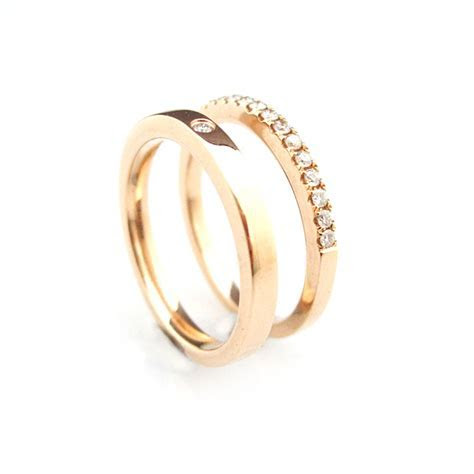 'Bridal & Besoke'   18ct Rose gold wedding rings   Day C