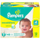 Pampers Swaddlers Disposable Diapers Enormous Pack, Size 2 - 148 count
