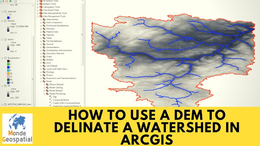 How to use a DEM to delineate a Watershed in ArcGIS