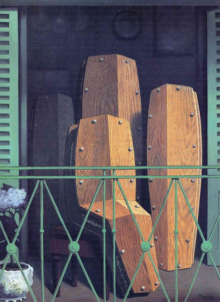 The Balcony, 1950 by Rene Magritte