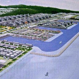 Rendering del porto di Dawei
