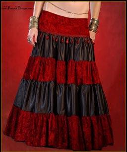 Skirt_tiered SAIA CIGANA