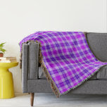 Purple and Fuchsia Tartan Plaid Throw Blanket