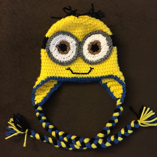 Crochet Minion Hat by AmysCraftingCorner1 on Etsy