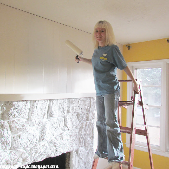 Living Room Painting Paneling2