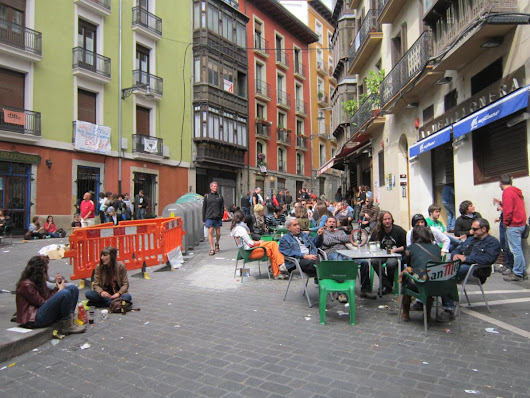 Saturday afternoon chillin' in Pamplona (on the Camino Frances/French Way)
