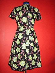 wrap dress, backside