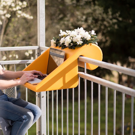 Clever Multi-Tasking Furniture That Hangs On The Railing Of Your Balcony - DesignTAXI.com