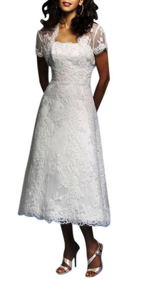 tea length wedding dresses for older brides   Wedding