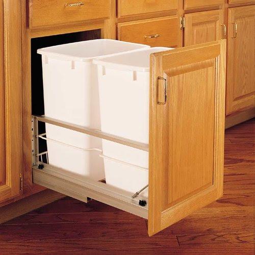 Rev-A-Shelf Double Trash Pullout 35 Quart-White 5349-18DM ...