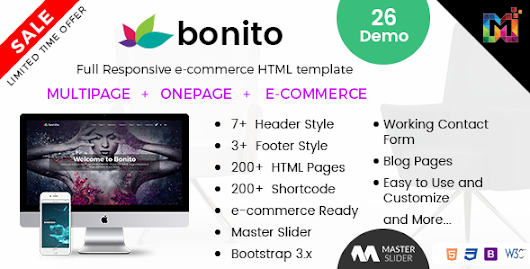 Bonito - Responsive Multi-Purpose HTML Template