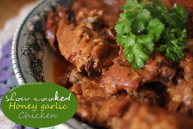 Slow Cooked Honey Garlic Chicken