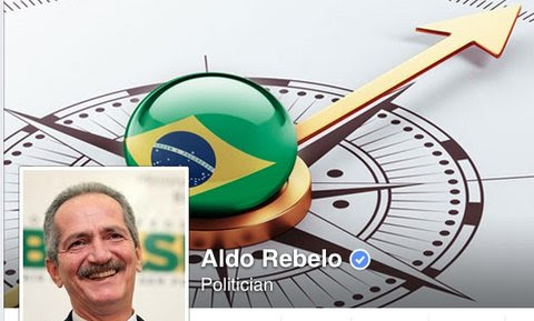 The Facebook page of Aldo Rebelo, Brazil's former minister of sports, who was appointed minister of science, technology and innovation despite his rejection of the science pointing to human-caused climate change.