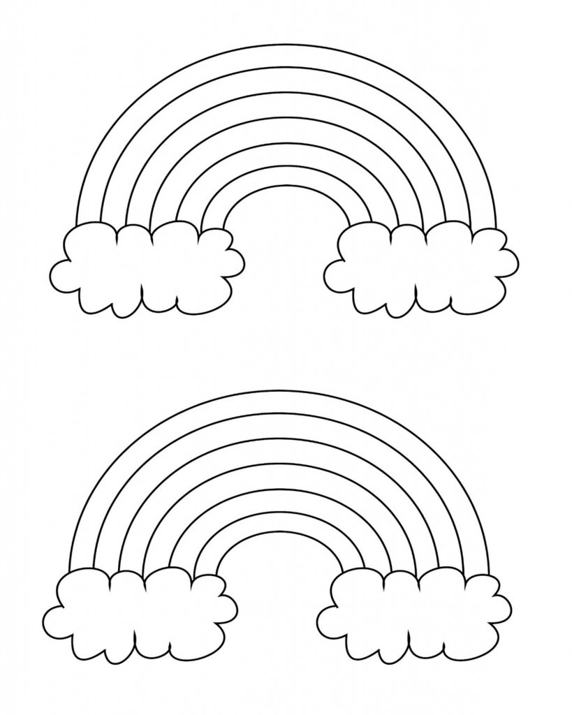 Free Printable Rainbow Templates - Small, Medium & Large ...