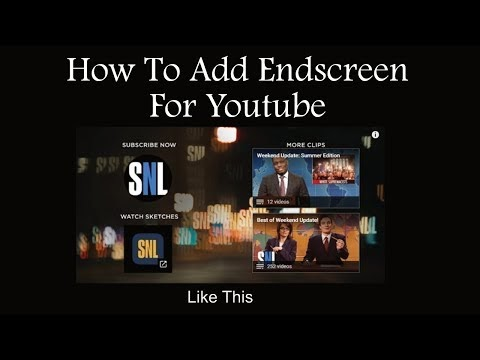 How To Add Endscreen To Our Youtube Account ?