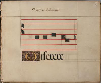 Spanish calligraphy manual - punto letra el mismo tamano