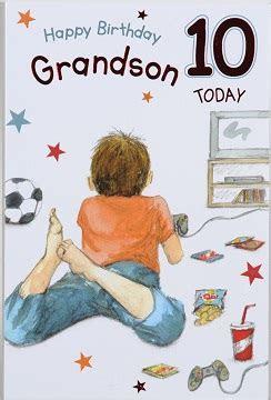 Grandson Age 10 Birthday Card ? Crediton Card Centre