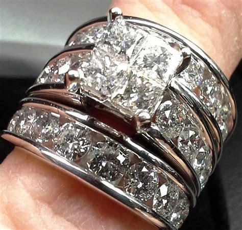 Engagement Wedding Ring Set Kay Jewelers 14k Clear Diamond