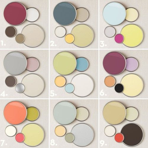 2011 Color Palettes from Better Homes and Gardens.  My living/dining is pallet -  Leaning to conservative  for kitchen(using the blue from  instead of the pinky/mauve color-  Would like to dare to use -  Would clash too much??