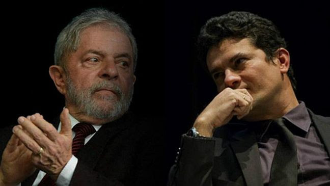Lula e Sérgio Moro (Foto: Arquivo Google)