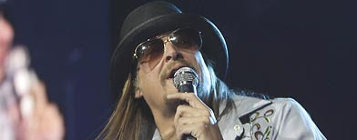 Kid Rock performs at Ford Field in Detroit, Saturday, Jan. 15, 2011. (AP Photo/Carlos Osorio)