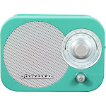 Studebaker - Portable AM/FM Radio - White/Blue