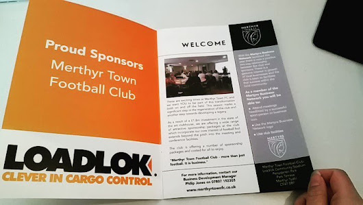 "CP Creative on Twitter: ""Here's a #brochure we've designed for @MerthyrTownFC! #graphicdesign #sponsorships #Loadlok #sports #Football #MotivationMonday """