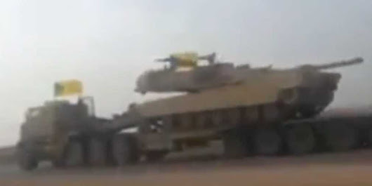 A YouTube Video Shows A Hezbollah Brigades Convoy Transporting American Tanks