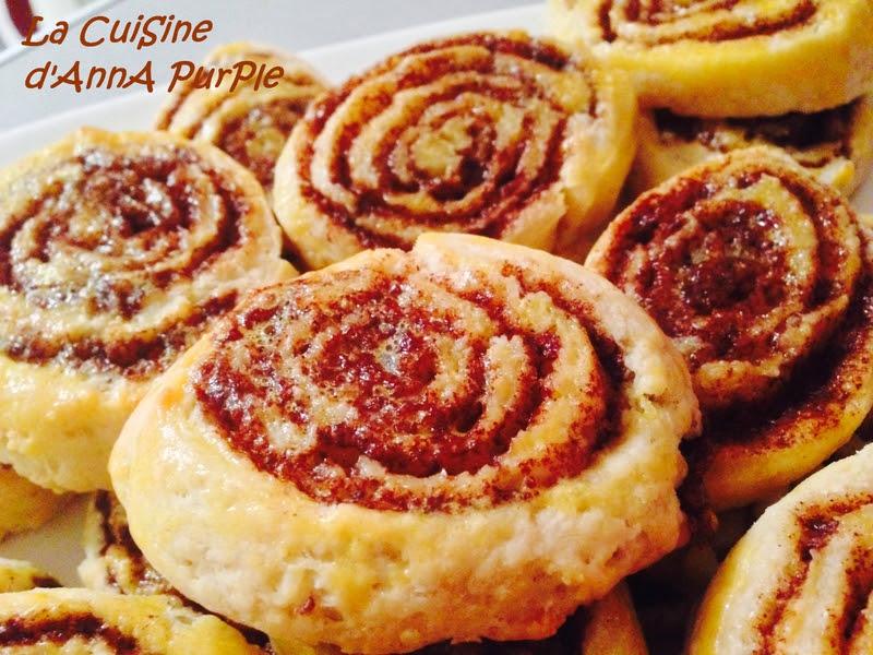 cinammon rolls ou roulé a la cannelle bis - LA CUISINE D'ANNA PURPLE