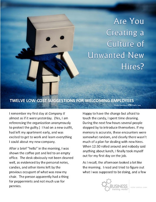 Are You Creating a Culture of Unwanted New Hires?: Twelve Low-Cost ...