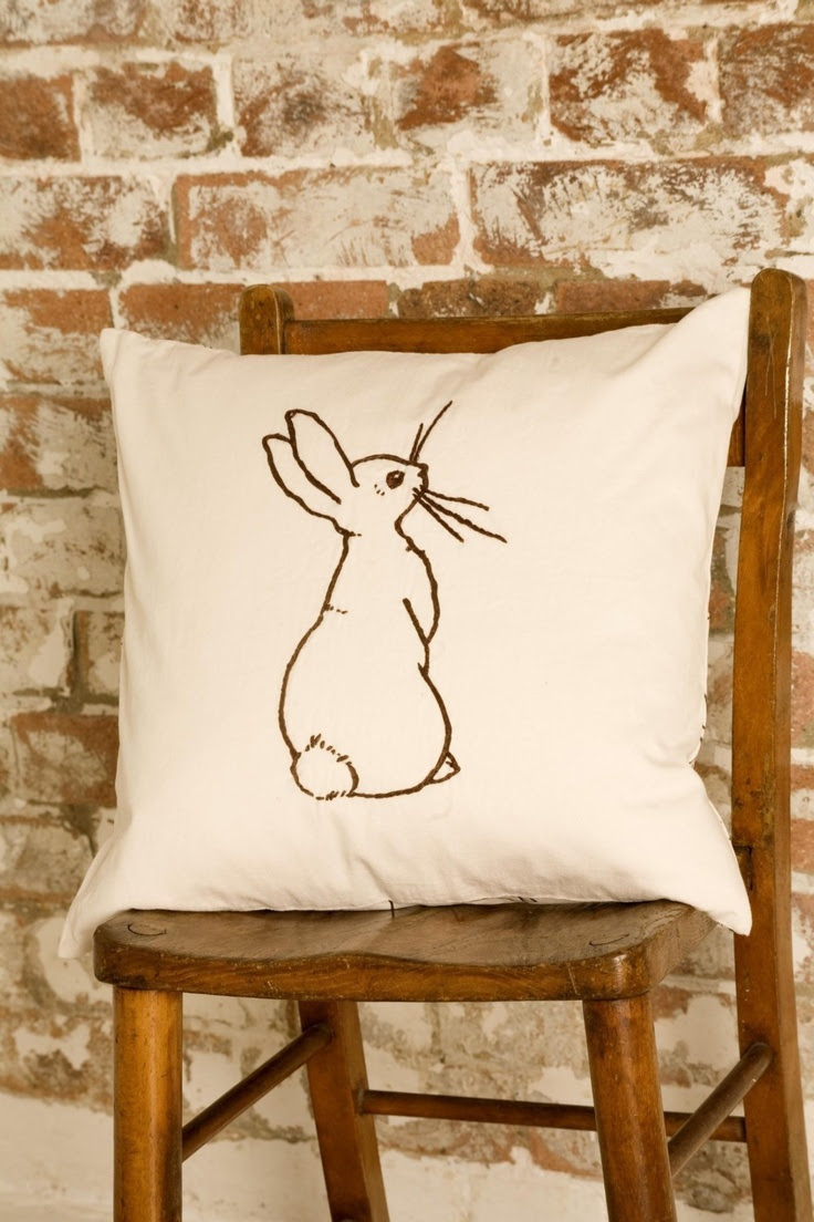 Bunny cushion by Belle & Boo