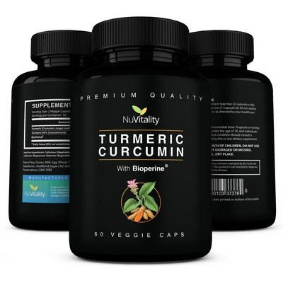 NuVitality announces release of Turmeric Curcumin with BioPerine Capsules
