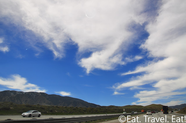Driving on Interstate 5- Clouds