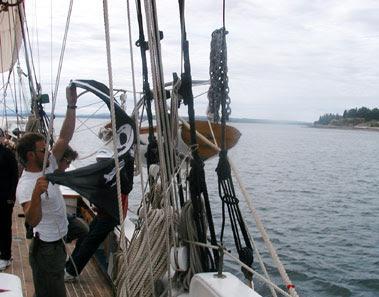 hoisting the Jolly Roger
