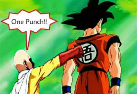 One Punch Man Vs Goku Meme