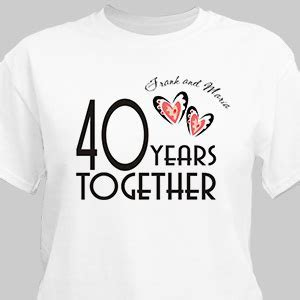 Years Together Personalized Anniversary T shirt