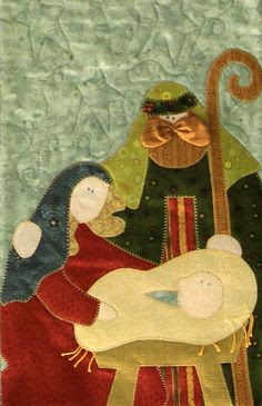 """Nativity"" by Kerry Grunwald (close-up), New Braunfels Area Quilt Guild 2009"