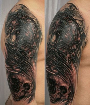 Skull Tat For Man