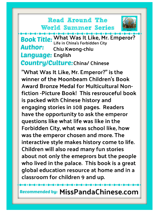 Read Around the World Summer Reading Series: What Was It Like, Mr. Emperor