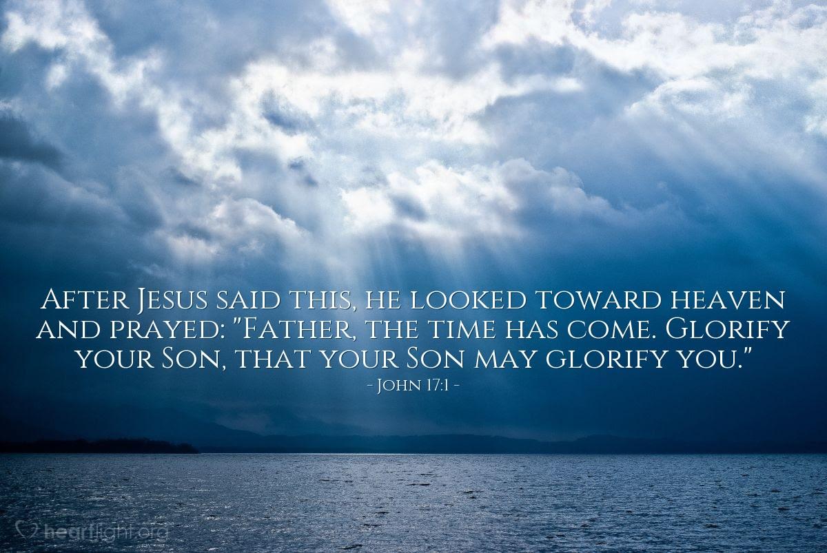 Illustration of John 17:1