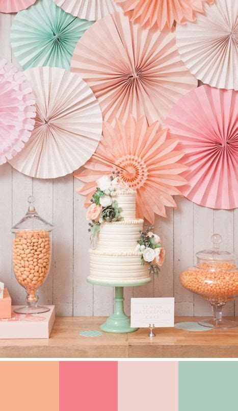 5 Peach Color Palettes for your Wedding Day   Pastel