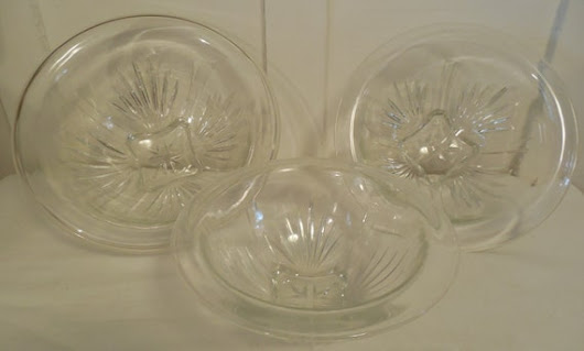 Federal Glass Clear Bowls 3 Mixing Bowls in by ShellyisVintage