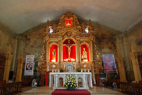 Miag-ao Church Lighted Altar