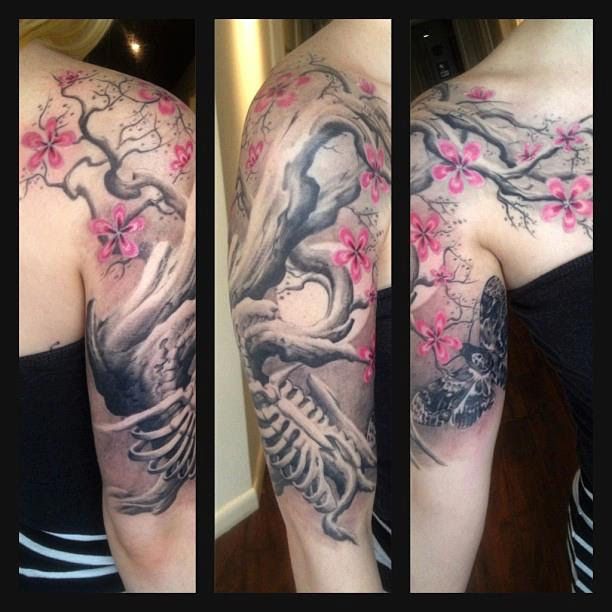 Finished Tree Half Sleeve By Oak Adams At Painted Temple In Slcut