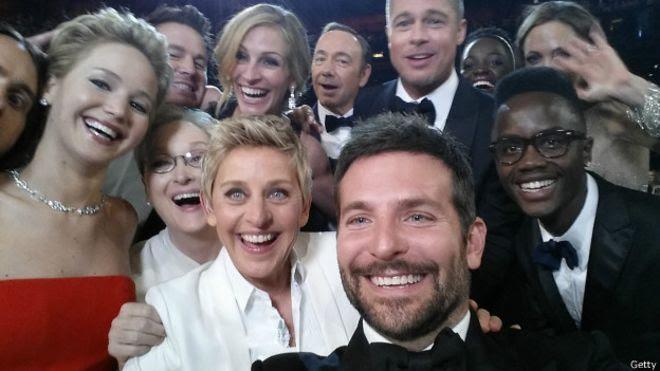 selfie en los oscars de 2014